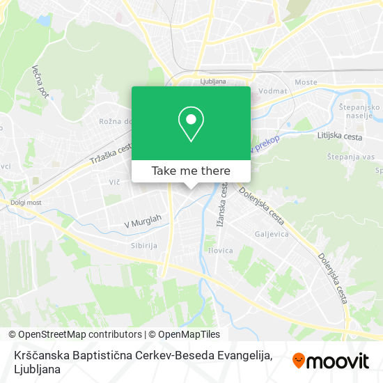 Krščanska Baptistična Cerkev-Beseda Evangelija map