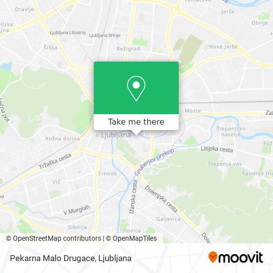 Pekarna Malo Drugace map