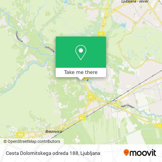 Cesta Dolomitskega odreda 188 map