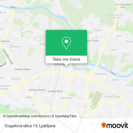 Gogalova ulica 15 map