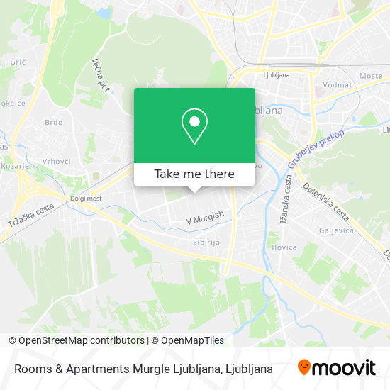 Rooms & Apartments Murgle Ljubljana map