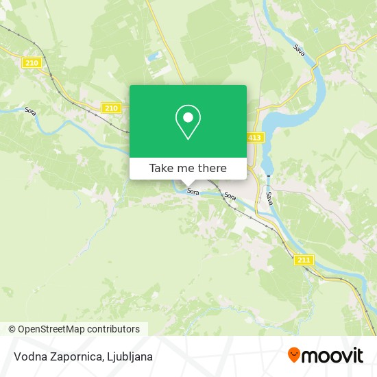 Vodna Zapornica map