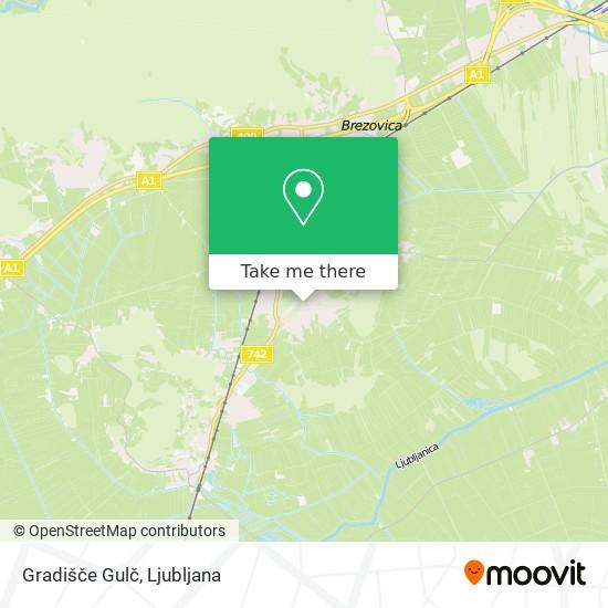 Gradišče Gulč map