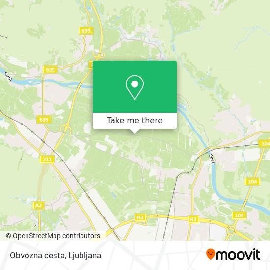 Obvozna cesta map