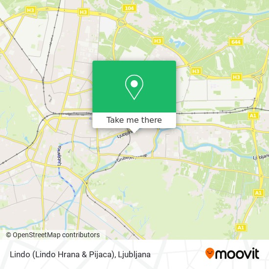 Lindo (Lindo Hrana & Pijaca) map