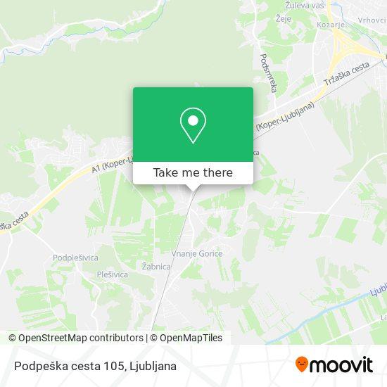 Podpeška cesta 105 map