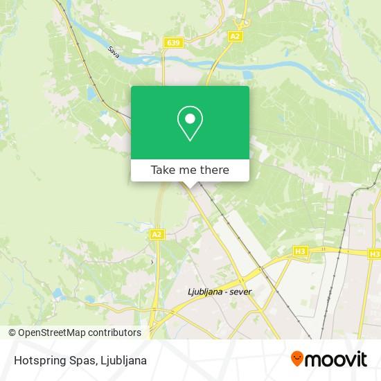 Hotspring Spas map