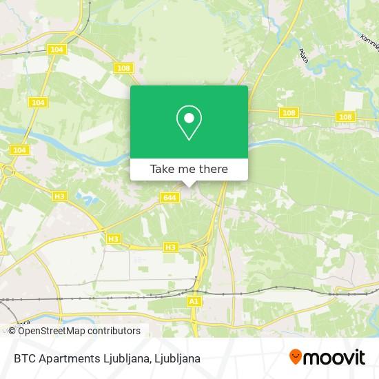 BTC Apartments Ljubljana map