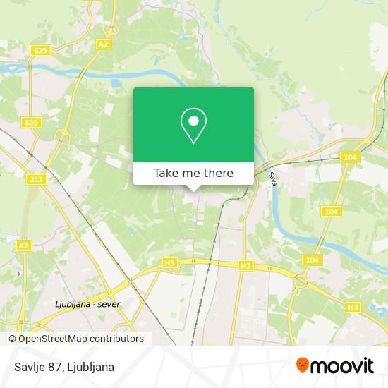 Savlje 87 map