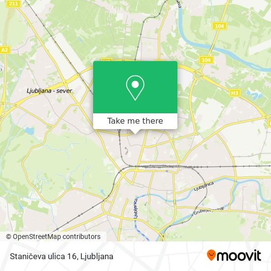 Staničeva ulica 16 map