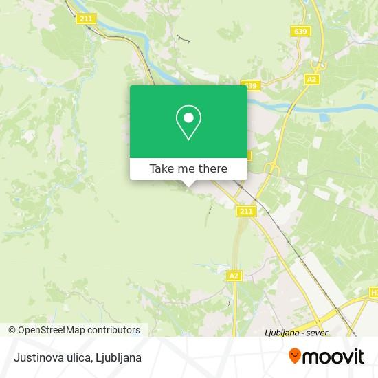 Justinova ulica map