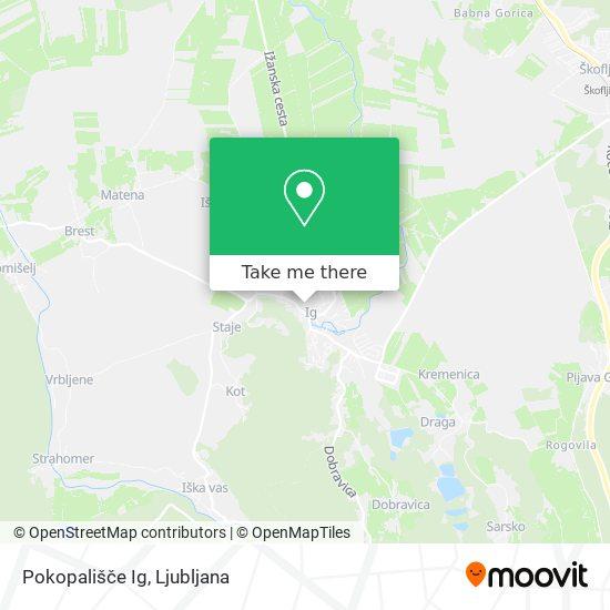 Pokopališče Ig map