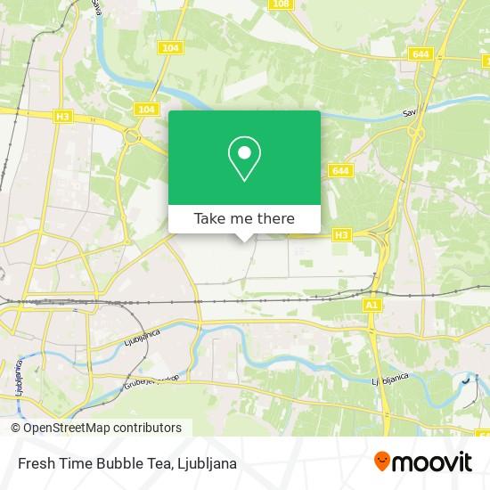 Fresh Time Bubble Tea map