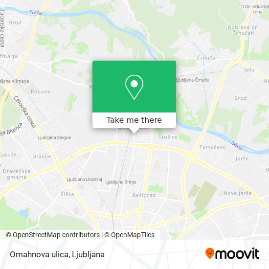 Omahnova ulica map