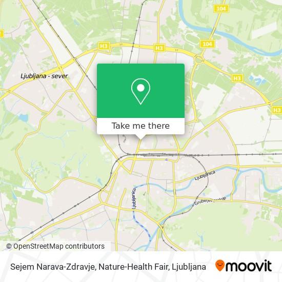 Sejem Narava-Zdravje, Nature-Health Fair map