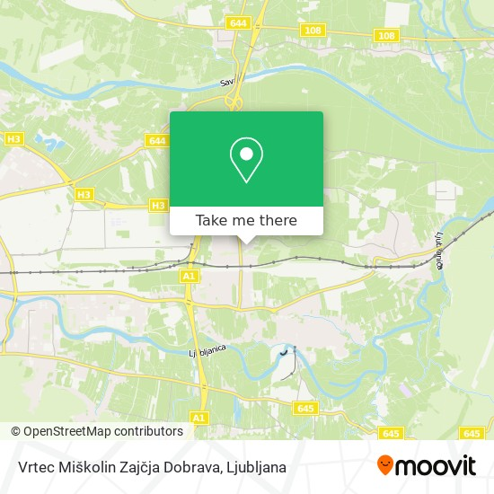 Vrtec Miškolin Zajčja Dobrava map