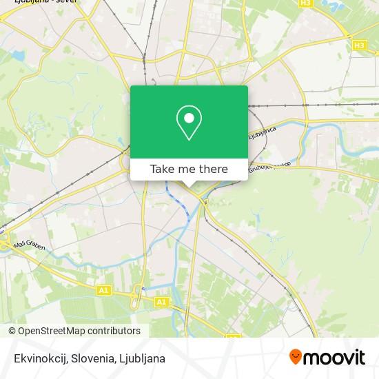 Ekvinokcij, Slovenia map