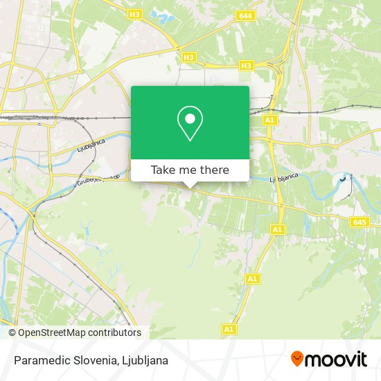 Paramedic Slovenia map