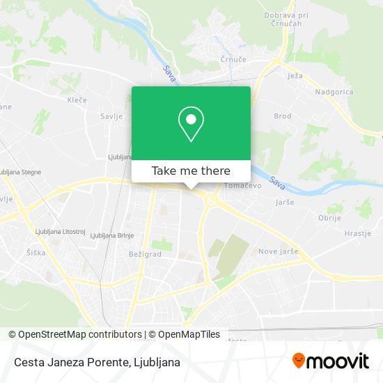 Cesta Janeza Porente map