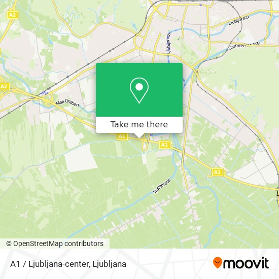 A1 / Ljubljana-center map