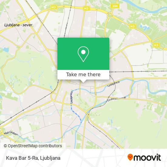 Kava Bar 5-Ra map