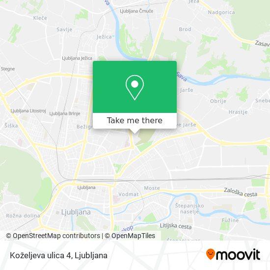 Koželjeva ulica 4 map