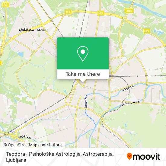 Teodora - Psihološka Astrologija, Astroterapija map