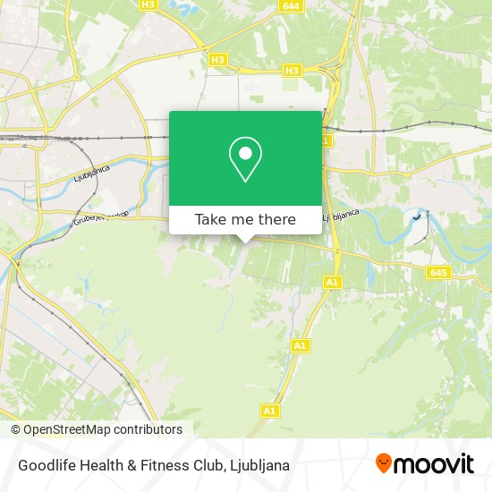 Goodlife Health & Fitness Club map