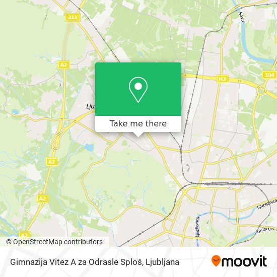 Gimnazija Vitez A za Odrasle Sploš map