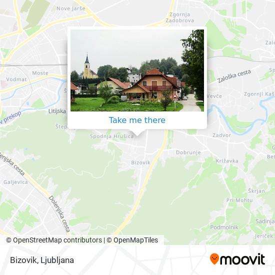 Bizovik map
