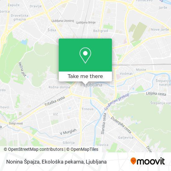 Nonina Špajza, Ekološka pekarna map