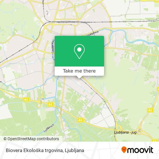 Biovera Ekološka trgovina map