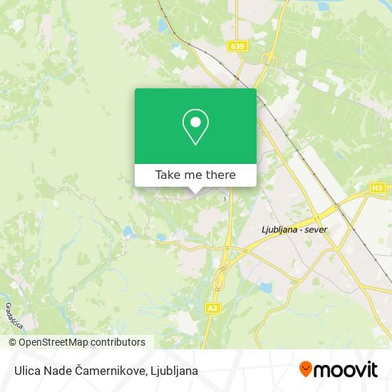 Ulica Nade Čamernikove map
