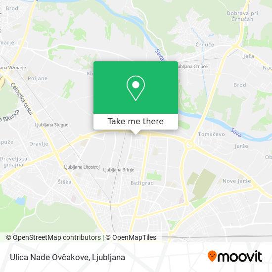 Ulica Nade Ovčakove map