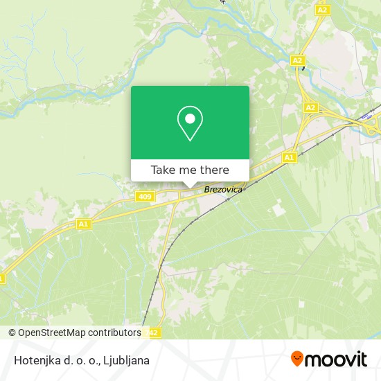 Hotenjka d. o. o. map