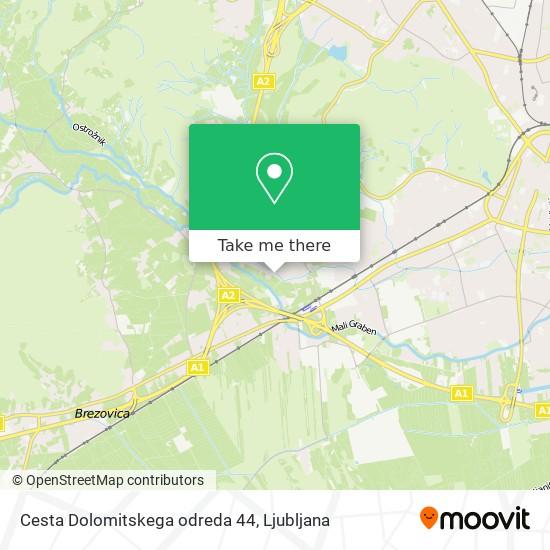 Cesta Dolomitskega odreda 44 map