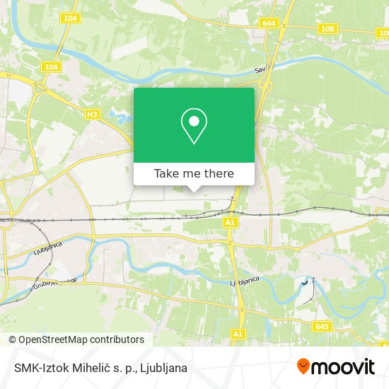 SMK-Iztok Mihelič s. p. map
