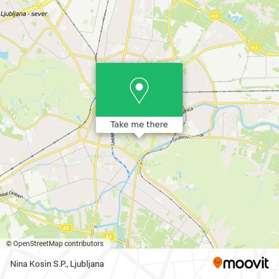 Nina Kosin S.P. map