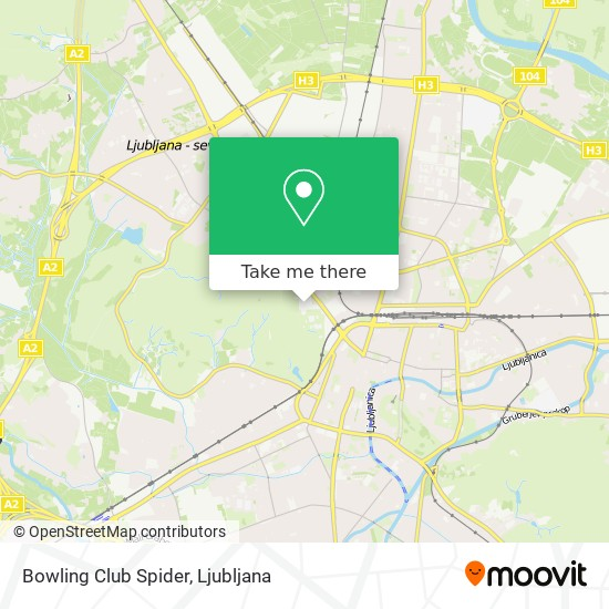 Bowling Club Spider map