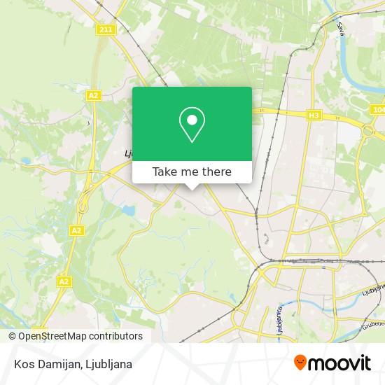 Kos Damijan map