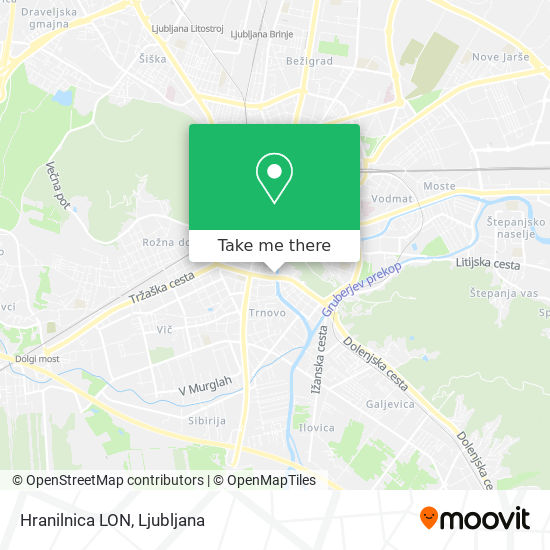 Hranilnica LON map