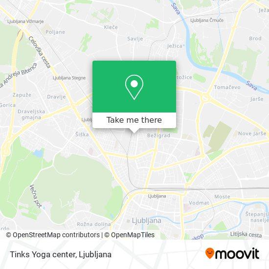 Tinks Yoga center map