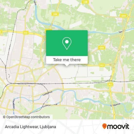 Arcadia Lightwear map
