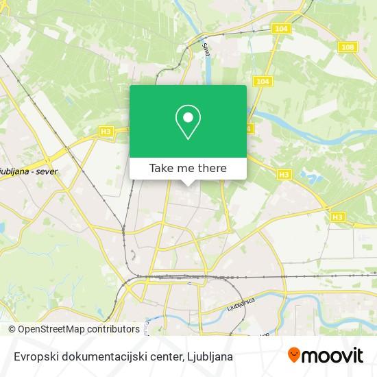 Evropski dokumentacijski center map