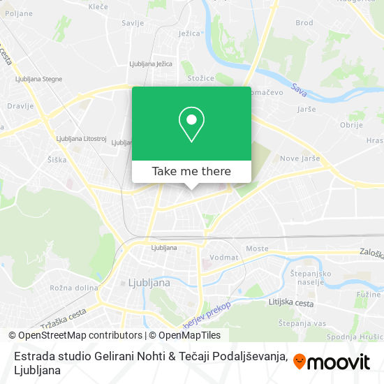 Estrada studio Gelirani Nohti & Tečaji Podaljševanja map