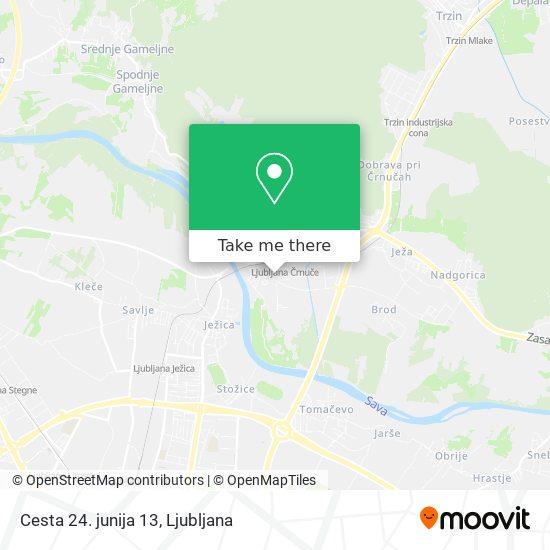 Cesta 24. junija 13 map