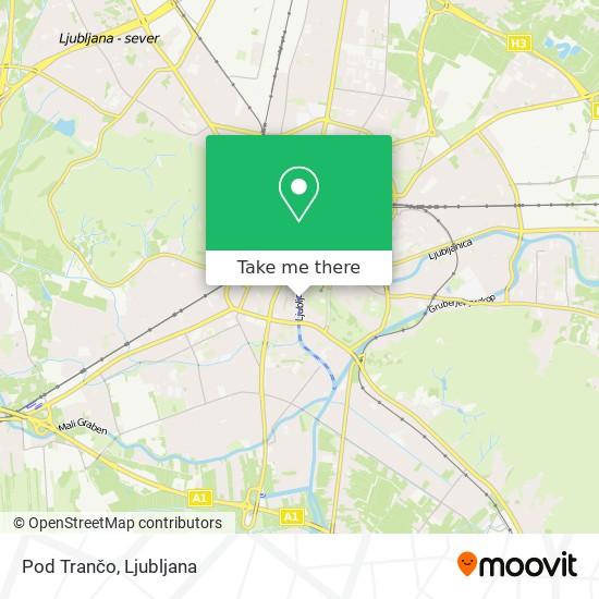 Pod Trančo map