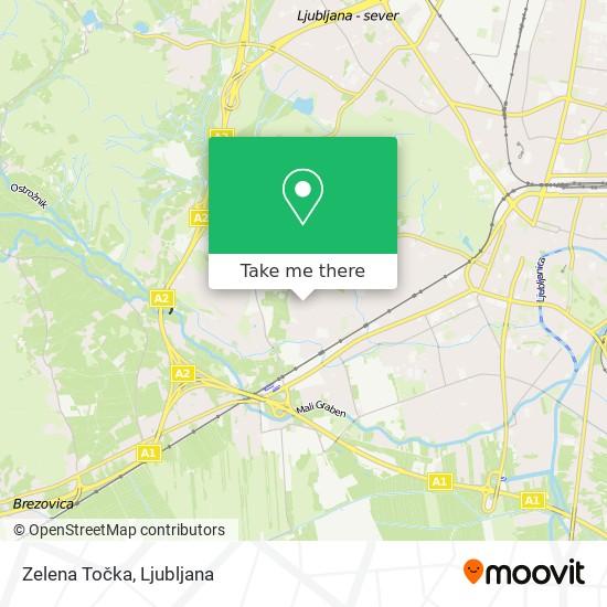 Zelena Točka map