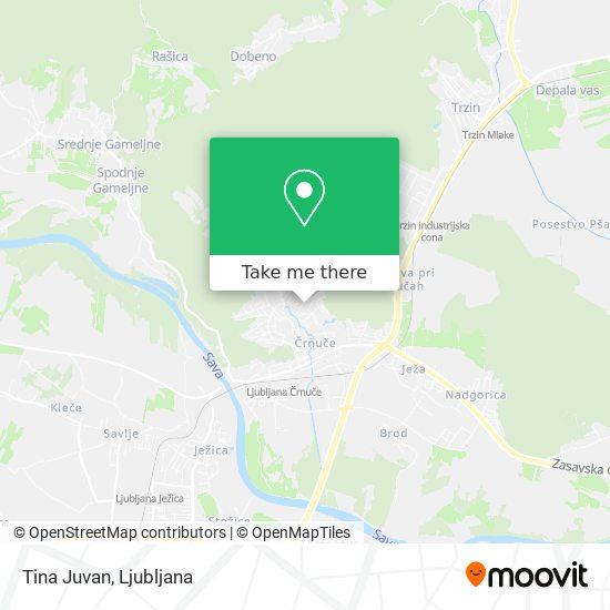 Tina Juvan map