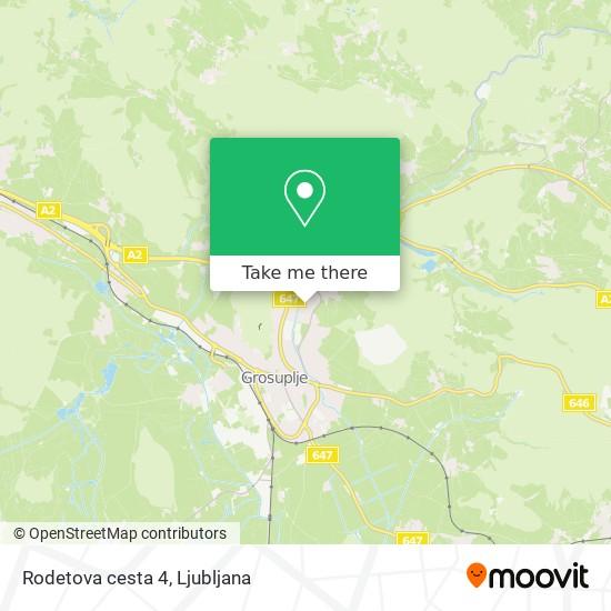 Rodetova cesta 4 map
